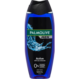 Photo of Palmolive Men Active Body Wash With Sea Minerals 0% Parabens Recyclable 500ml
