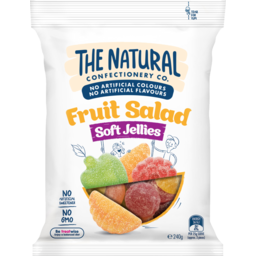 Photo of The Natural Confectionery Co. Soft Jellies Fruit Salad Lollies 240g