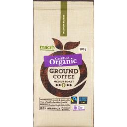 Photo of Macro Organic Fair Trade Plunger Grind Medium Ground 200g