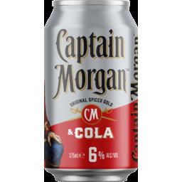 Photo of Captain Morgan Original Spiced Gold & Cola 6% Can
