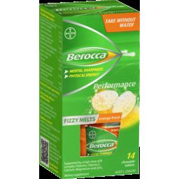 Photo of Berocca Fizzy Melts Orange 14s