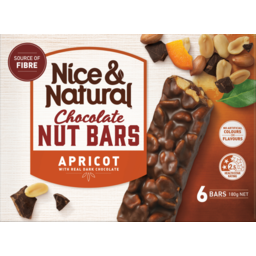 Photo of Nice & Natural Nut Bar Chocolate Apricot 6s180g