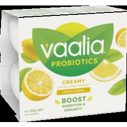 Photo of Vaalia Probiotic Yoghurt Lemon Creme 4x150g