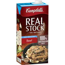 Photo of Campbells Real Stock Beef Salt Reduced 1 Litre