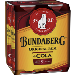 Photo of Bundaberg 33 OP Rum & Cola Cans