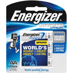 Photo of Energizer Ultimate Lithium Batteries Aa 4pk