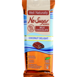 Photo of Well Naturally Nsa Milk Chocolate Coconut Delight 90g