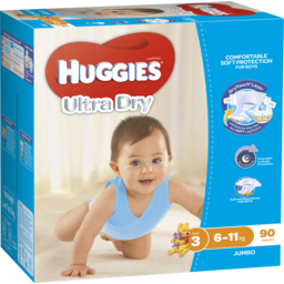 Photo of Huggies Jumbo Crawler Boy 90pk