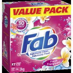 Photo of Fab Fresh Frangipani Laundry Powder Detergent 2kg