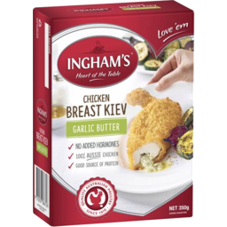 Photo of Ingham Breast Kiev Garlic Butter 350gm