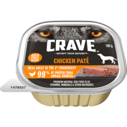 Photo of Crave Chicken Pate Dog Food 100g