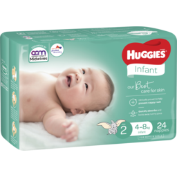 Photo of Huggies Infant Nappies Size 2 (4-8kg) 24 Pack (Convenience)