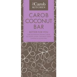 Photo of The Carob Kitchen Caffeine & Gluten Free Carob Coconut Bar 80g