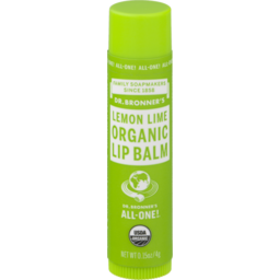 Photo of DR BRONNERS:DRB Organic Lip Balm Lemon Lime 4g