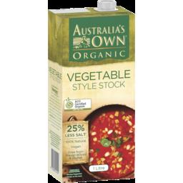 Photo of Australias Own Organic Vegetable Style Stock 1l