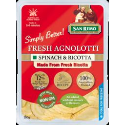 Photo of San Remo Fresh Agnolotti Spinach & Ricotta 350g