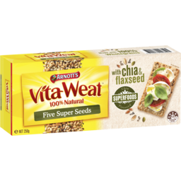 Photo of Arnott's Vita Weat Crispbread Five Super Seeds 250g
