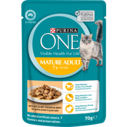 Photo of Purina One Mature Adult 7+ Years Chicken In Gravy Cat Food 70g