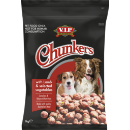 Photo of V.I.P. Petfoods Chunkers Lamb And Selected Vegetables Chilled Dog Food 1kg
