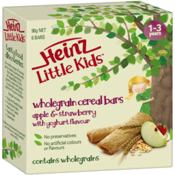 Photo of Heinz Little Kids Apple & Strawberry With Yoghurt Wholegrain Cereal Bar 90g