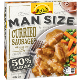 Photo of McCainMan Size Curried Sausages 480g