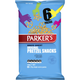 Photo of Parker's Baked Wheat Original Pretzel Snacks 150g