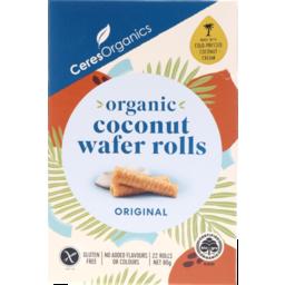 Photo of Ceres Organics Coconuts Wafer Rolls Original 22 Rolls 80g