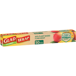 Photo of Glad To Be Green 50% Plant Based Cling Wrap 30cmx50m