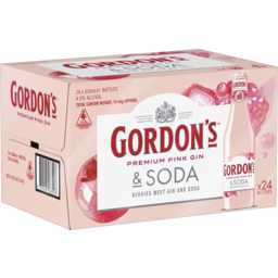 Photo of Gordon's Pink Gin & Soda Stubbies