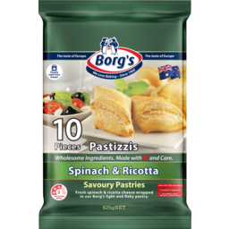 Photo of Borgs Spinach & Ricotta Cheese Savoury Pastries 625gm