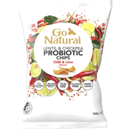 Photo of Go Natural Probiotic Chips Chilli & Lime 100g