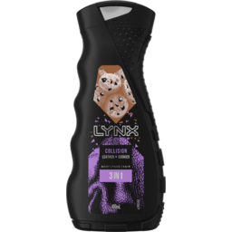Photo of Lynx Collision Leather + Cookies Body Face Hair 3 In 1 Wash 400ml