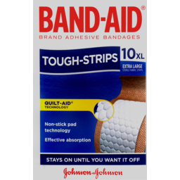 Photo of Band-Aid Extra Large Tough Strips 10 Extra Large Sterile Fabric