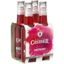 Photo of Vodka Cruiser Raspberry 4.6% 275ml 4 Pack