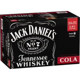 Photo of Jack Daniels & Cola Bottle 330ml 24 Pack