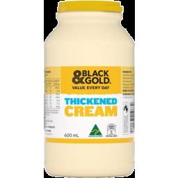 Photo of Black & Gold Thickened Cream 600ml
