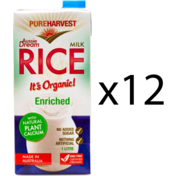Photo of Pureharvest Rice Milk - Aussie Dream With Calcium - Box Of 12