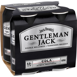 Photo of Jack Daniel Gentleman & Cola Cans