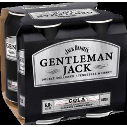 Photo of Gentleman Jack & Cola Can 4 Pack