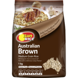 Photo of Sunrice Medium Grain Wholegrain Brown Rice 1kg