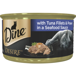 Photo of Dine Desire Tuna Fillets & Whole Prawns In A Seafood Sauce 85g