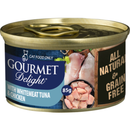 Photo of Snappy Tom Gourmet Delight Whitemeat Tuna & Chicken Breast 85g