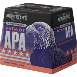 Photo of Monteith's Patriot APA 330ml Bottles 12 pack
