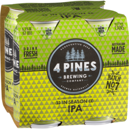 Photo of 4 Pines In Season IPA Cans