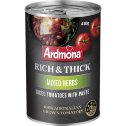 Photo of Ardmona Rich & Thick Diced Tomato With Paste Mixed Herbs 410g