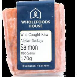 Photo of Wholefoods House Alaskan Sockeye Salmon Wild Portion (frozen) 170g