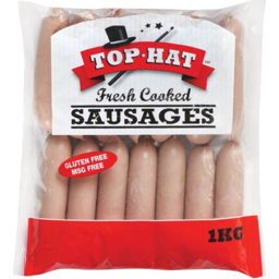 Photo of Top Hat Plain Sausages Prepack 1kg