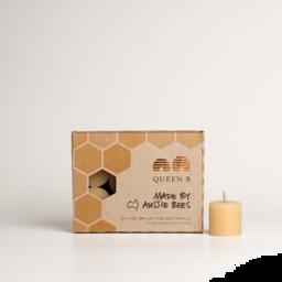 Photo of Queen B Candles (Beeswax) - Jam Jar Tealight Refills