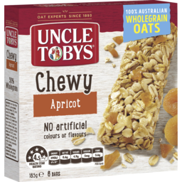 Photo of Uncle Tobys Chewy Apricot 6 Muesli Bars 185g