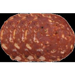 Photo of Australian Calabrese Salami Sliced